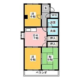 メゾン島田[2階]の間取り