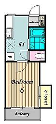 マンションワイズI[2階]の間取り