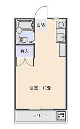 大野マンション 3階ワンルームの間取り