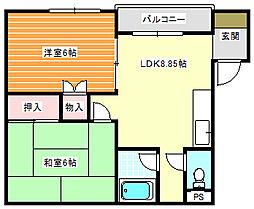 ファミール御崎[2階]の間取り