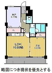 名古屋市営東山線 東山公園駅 徒歩8分の賃貸マンション 1階2LDKの間取り