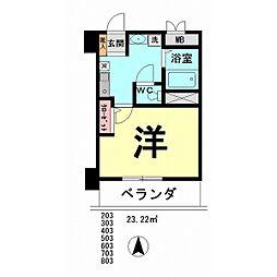 アイランドマンションⅠ[703号室]の間取り