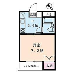 ローズマンション小山[3階]の間取り