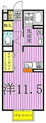 カトルセゾンA・B[1階]の間取り