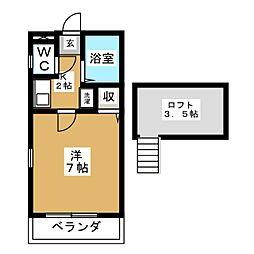エクセルシャトー鷺ヶ森参番館[2階]の間取り