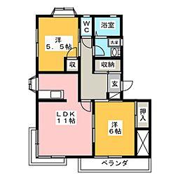 イーストハウス[1階]の間取り