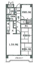 宮城県仙台市泉区八乙女3丁目の賃貸マンションの間取り