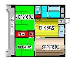 浦和ホワイトハイツ[2階]の間取り