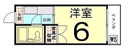 ロイヤルハイツ上賀茂[108号室]の間取り