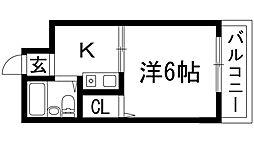 シティハイツ槻木[5階]の間取り