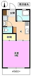 長野県松本市宮渕3丁目の賃貸マンションの間取り