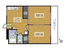 松川コーポ[3階]の間取り