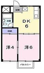 東京都東大和市奈良橋3丁目の賃貸アパートの間取り