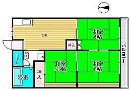 桜ビラ[208号室]の間取り