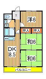 笠井ハイツ[506号室]の間取り