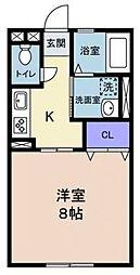 静岡県浜松市中区法枝町の賃貸アパートの間取り