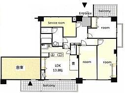 セルアージュ横濱関内ルミュウ[2階]の間取り