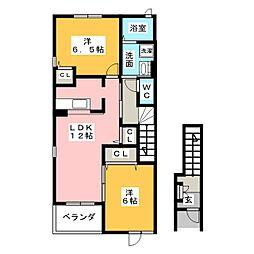 アウローラNS−A[2階]の間取り