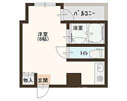 イトーピア津久野[4階]の間取り