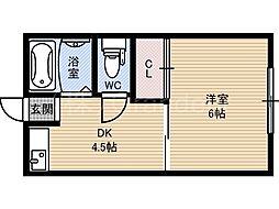 サンハイム[3階]の間取り