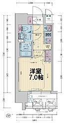 レシオス大阪城公園 12階1Kの間取り
