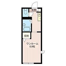 カースルクーム[1階]の間取り