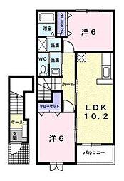 ラッフィナートB[2階]の間取り