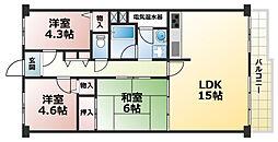 ドルミ灘C棟[7階]の間取り