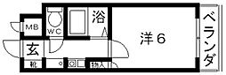 ハートフル藤井寺[605号室号室]の間取り