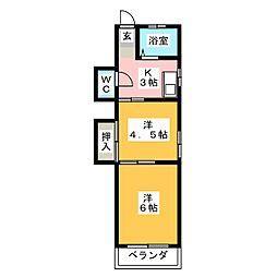 山巳荘[1階]の間取り