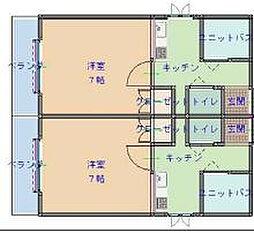サンライズ小阪[503号室]の間取り