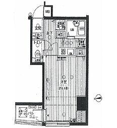 シンシア麻布十番[5階]の間取り