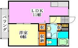 ビレッジサングランデA棟[1階]の間取り