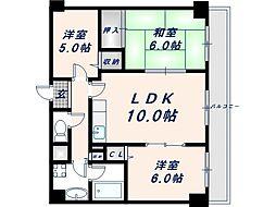 プレミールコート[2階]の間取り