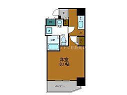 Osaka Metro中央線 堺筋本町駅 徒歩4分の賃貸マンション 6階1Kの間取り