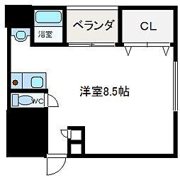 フェリセ富田[1階]の間取り