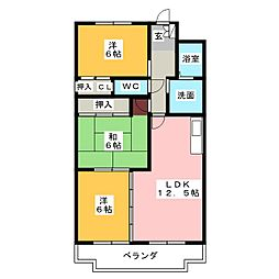 フローラ相川[3階]の間取り