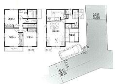 参考プラン 1階42.93平米 2階45.36平米 延床面積88.29平米 土地建物価格6480万円
