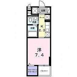 神奈川県小田原市池上の賃貸マンションの間取り