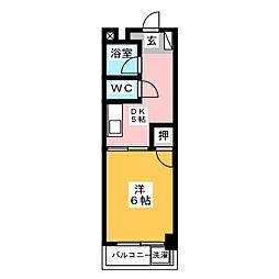 コーポ松永[4階]の間取り