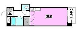 グランドハイム朝生田[307 号室号室]の間取り