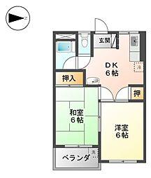 第6村上ビル[4階]の間取り
