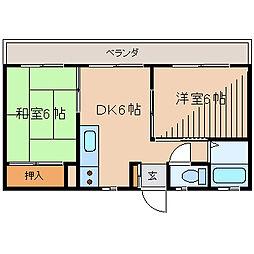 東京都町田市中町4丁目の賃貸マンションの間取り