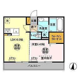 (仮)D-room人見[3階]の間取り