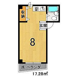 サリタ五条[5A号室]の間取り