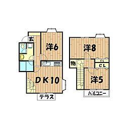 [テラスハウス] 神奈川県横浜市瀬谷区二ツ橋町 の賃貸【/】の間取り