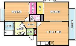 クレセント鴨生田[2階]の間取り