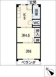 川島ビル[2階]の間取り
