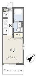 東葉高速鉄道 八千代緑が丘駅 徒歩8分の賃貸アパート 1階1Kの間取り