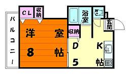 MYコーポII[3階]の間取り